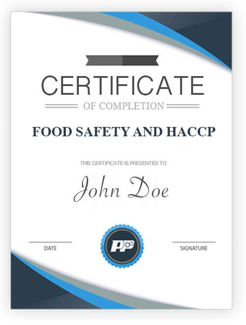 Food Safety and HACCP Certificate Big | People & Process